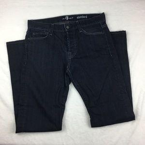7FAM Standard Straight Leg Button Fly Jeans Sz 31